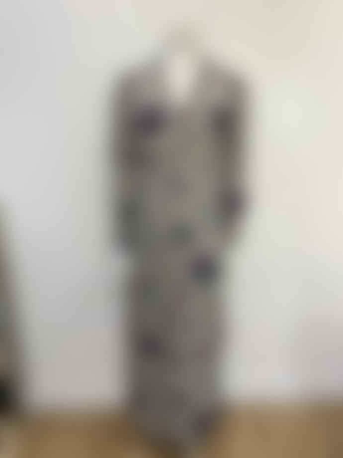 Stardust Scallop Heart Maxi Dress Grey