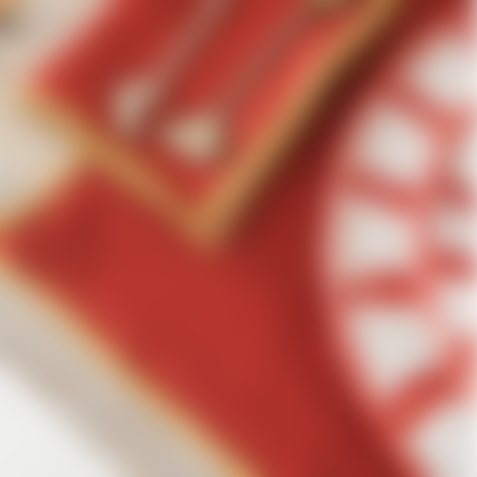 Balakata Golden Edge Red Chili Linen Washed Napkin