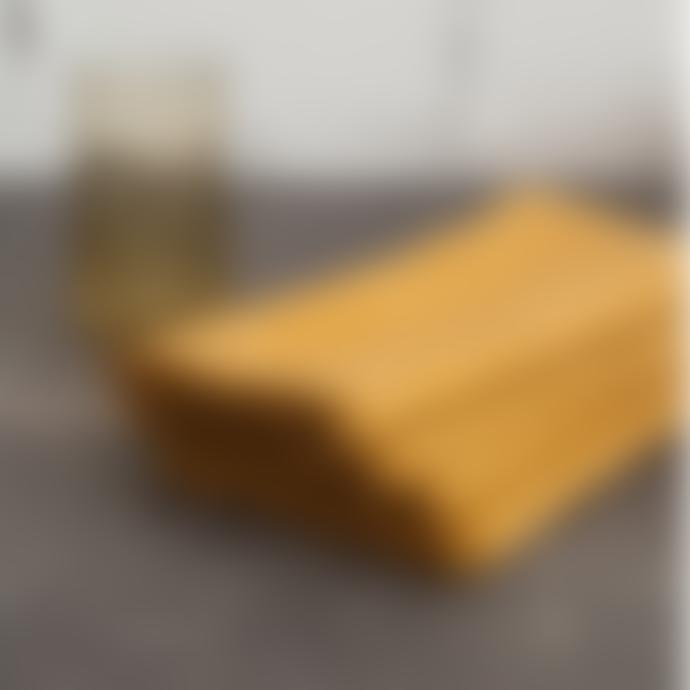 Balakata Golden Edge Curcuma Yellow Linen Washed Napkin