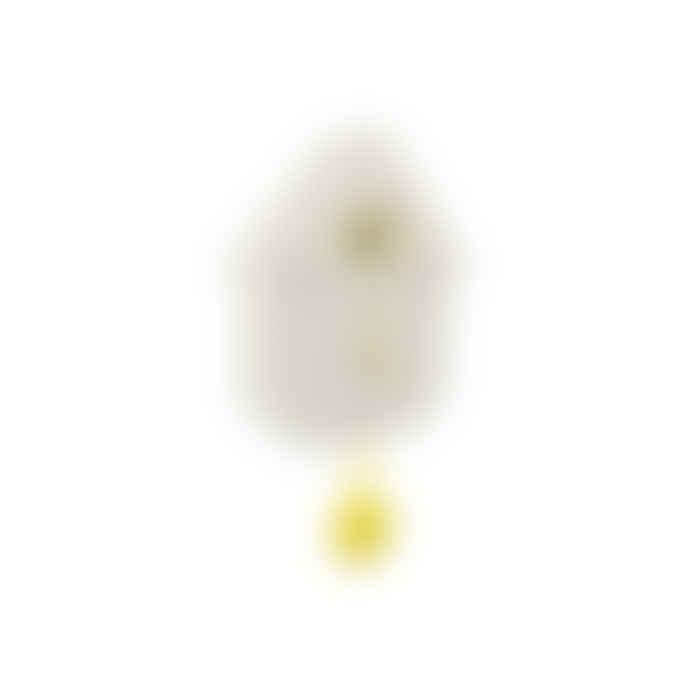 Fisura Cuckoo House Clock White and Yellow