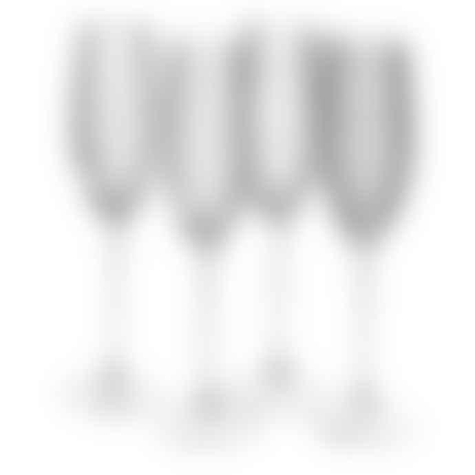 Persora Mikasa Cheers Set Of 4 Champagne Flute Glasses