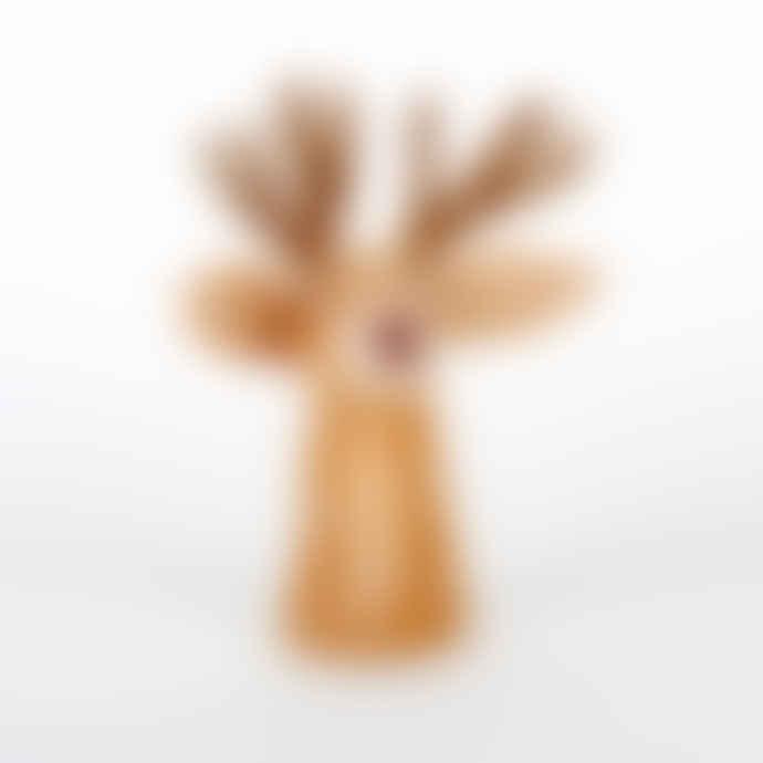 Sjaal met Verhaal Brown Wool Felt Deer Egg Warmer