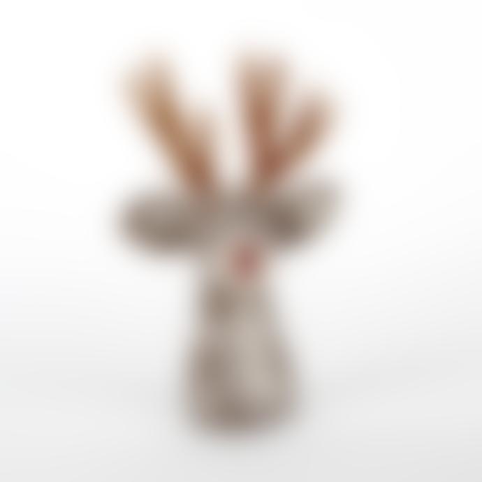 Sjaal met Verhaal Grey Wool Felt Deer Egg Warmer