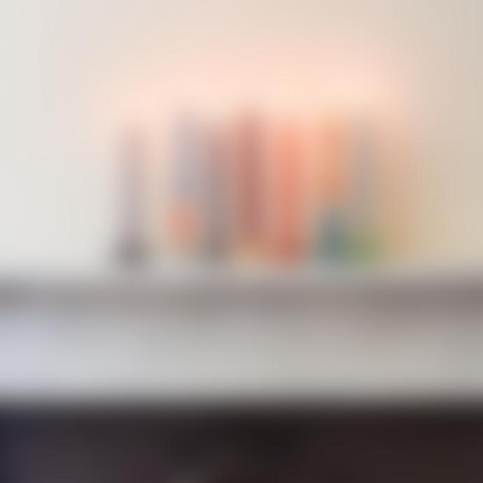 British Colour Standard Pack of 6 Pompadour Eco Dinner Candles