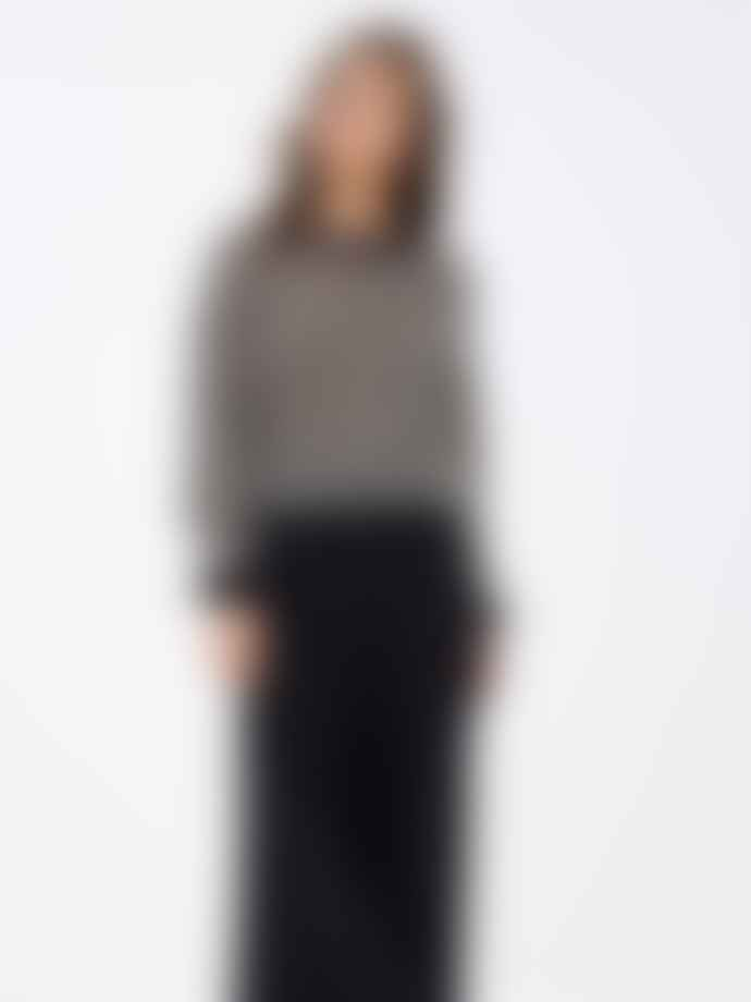 by-bar Black off White Mohair Gwen Pullover Sweater