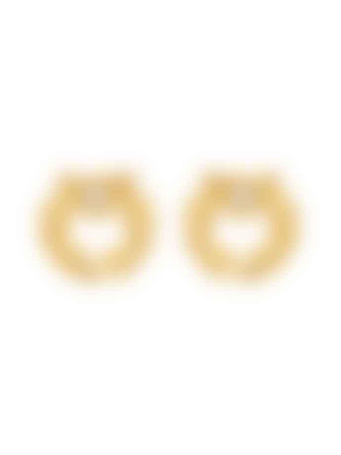 Les Nereides Gold Laurel Crown BO Earrings