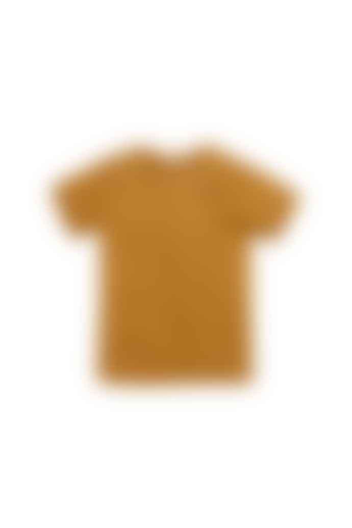 The New Society S S T Shirt Caramel Navy