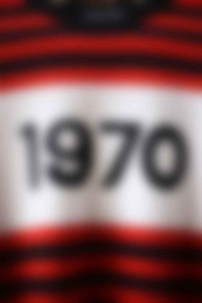 Bella Freud  1970 Red Black Striped Jumper