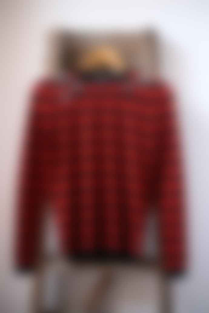 Bella Freud  Mr Freedom Red Black Striped Star Jumper