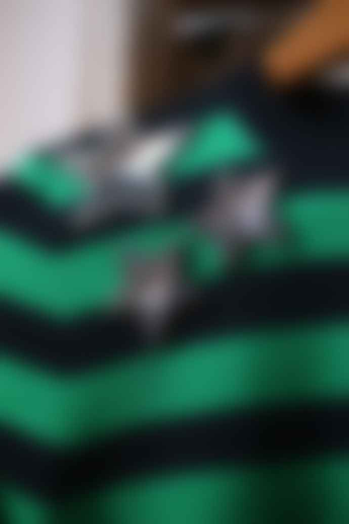 Bella Freud  Mr Freedom Green Black Striped Star Jumper