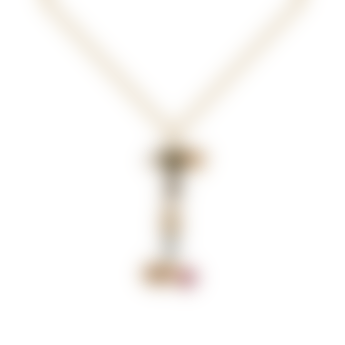 P D PAOLA Sparkling Initial necklace Gold letter I