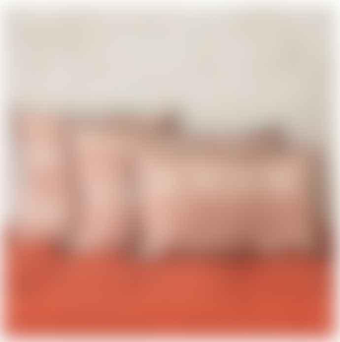 Balakata 30 x 50cm Red Linen Bhuj Cushion Cover