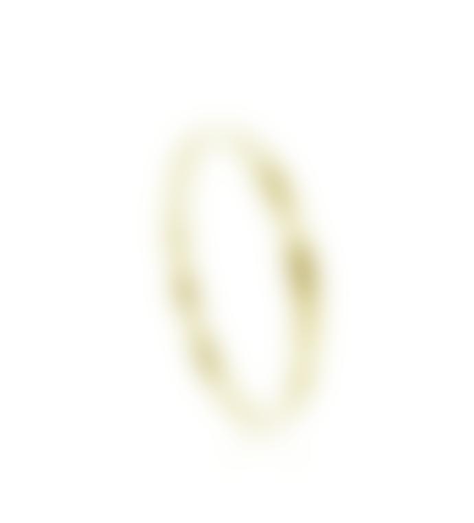 mounir LONDON Gold Plated Hammered Bangle