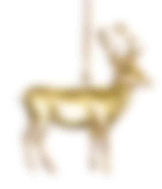 De Weldaad Gold Deer Ornament