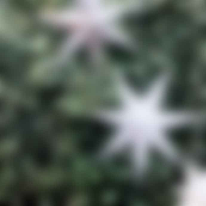 The Grey Works Grey Glitter Light Up Star Large