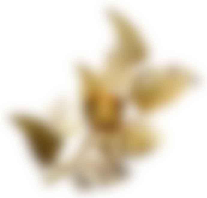De Weldaad Golden Fern Leaf Tealight Holder