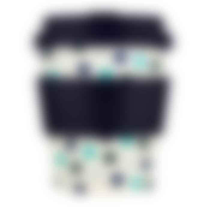 Ecoffee Cup Blue Polka 8 Oz 240 Ml