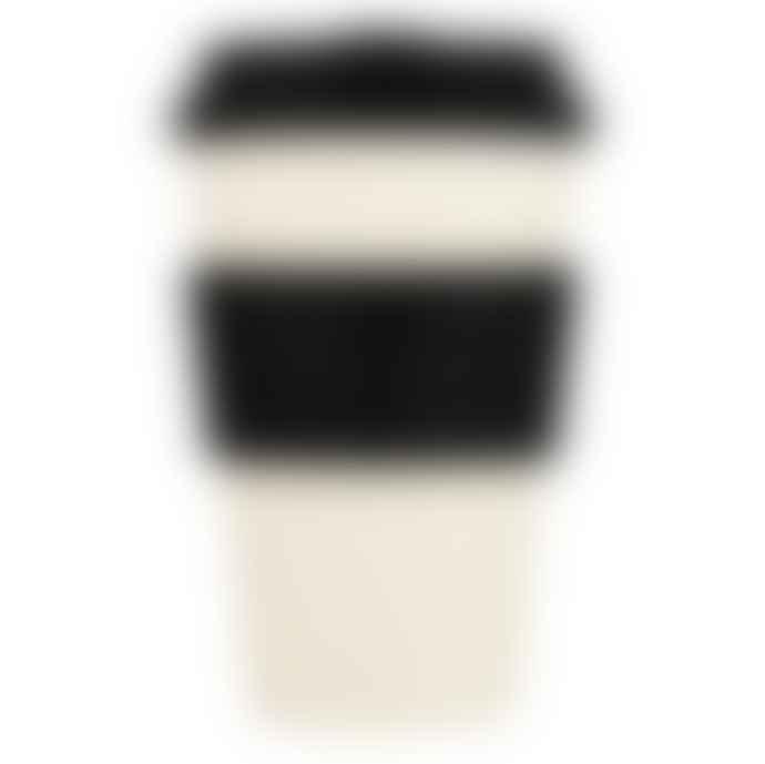 Ecoffee Cup Black Nature 14 Oz 400 Ml Cream Black