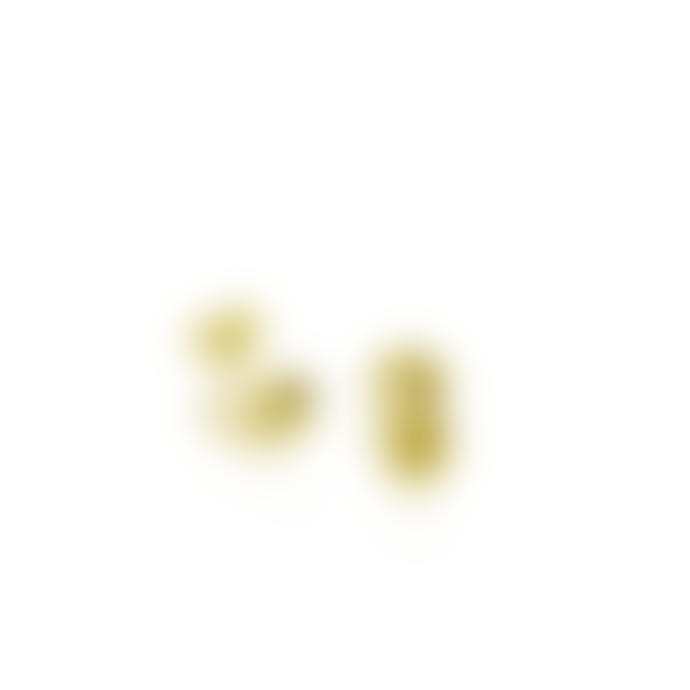 mounir LONDON 0.85 x 0.54cm Gold Plated Nugget Stud Earrings