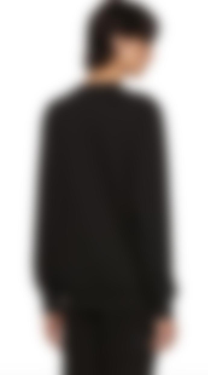 Paul Smith Men's Black Embroidered 'Dreamer' Cotton  Sweatshirt