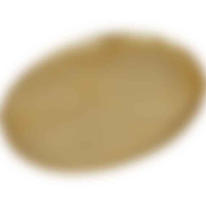 Trendy Pillows Golden Oval Tray