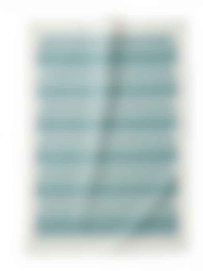Littlephant 67x48cm White and Blue Triangle Cotton Tea Towel