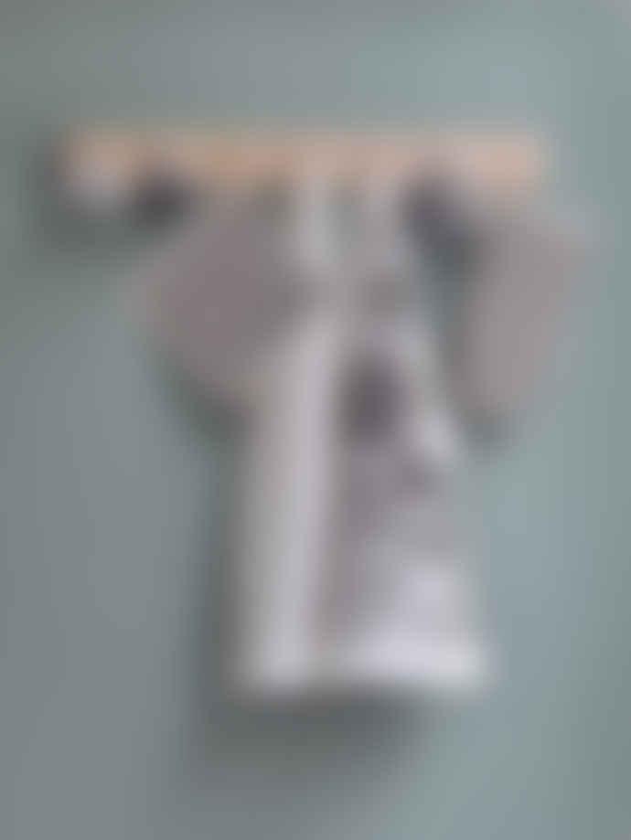 Littlephant 67x48cm White and Black Aquatic Cotton Tea Towel