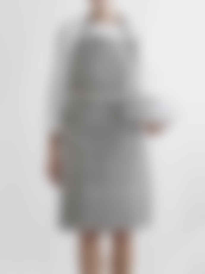Littlephant Black and Grey Wave Cotton Apron