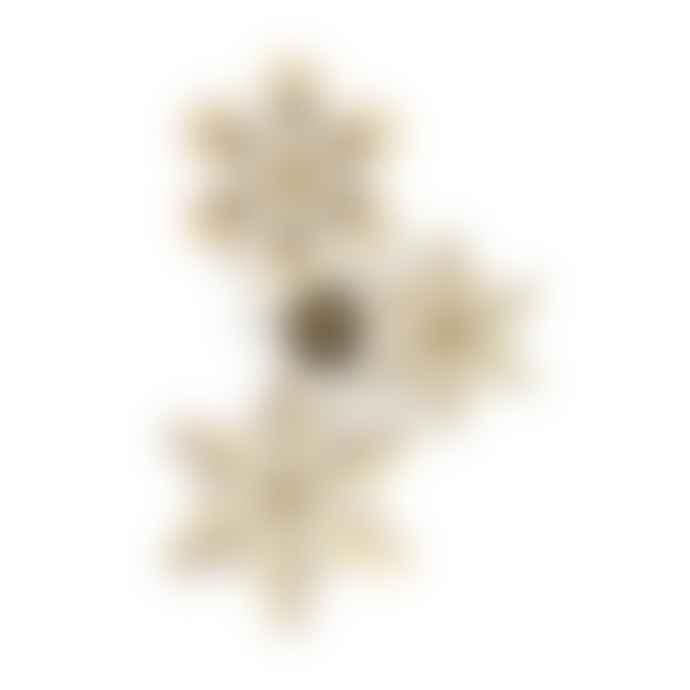 Fundamental.Berlin Snowflakes Brass Set Of 3