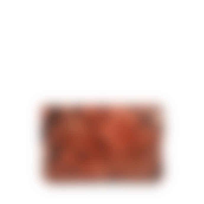 Markberg Burnt Orange Snake Print Faith Coin Purse