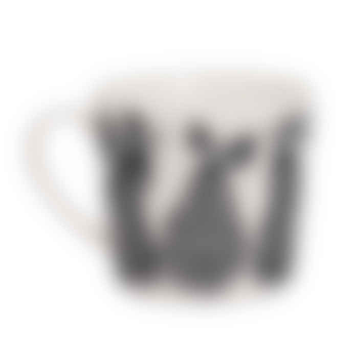 Littlephant Large White and Black Porcelain Pear Mug