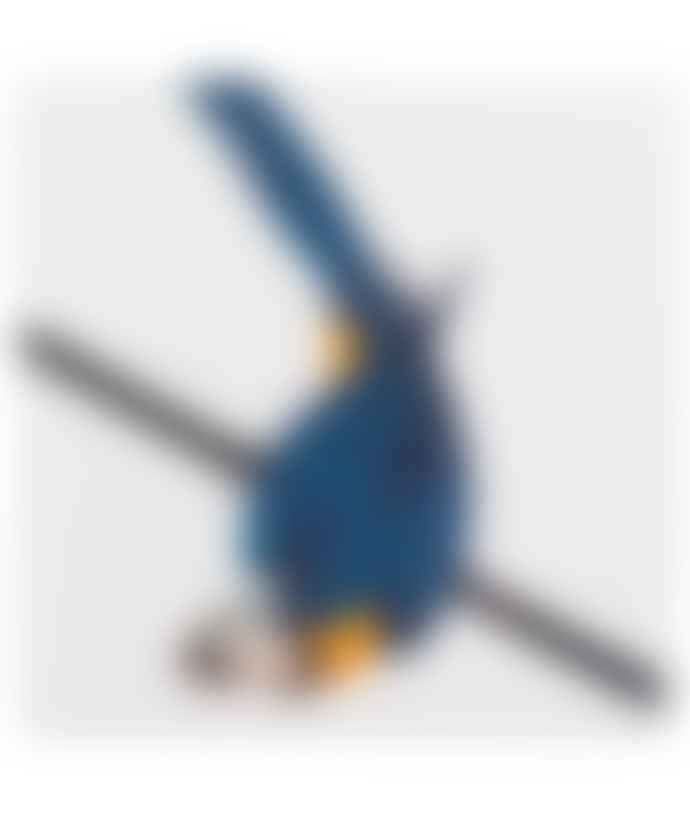 STORYTILES Small Blue Parrot Ceramic Tile