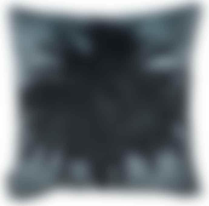 Vanilla Fly 50 x 50cm Blue Velvet Palm Cushion Cover LA70