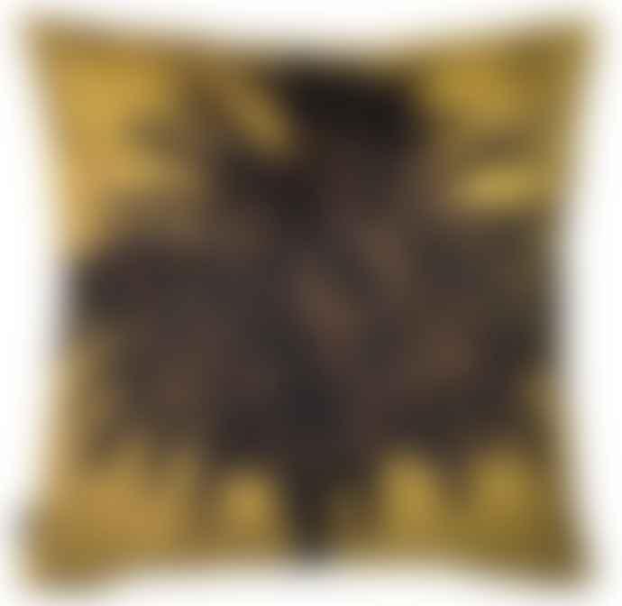 Vanilla Fly 50 x 50cm Mustard Velvet Palm Cushion Cover LA67