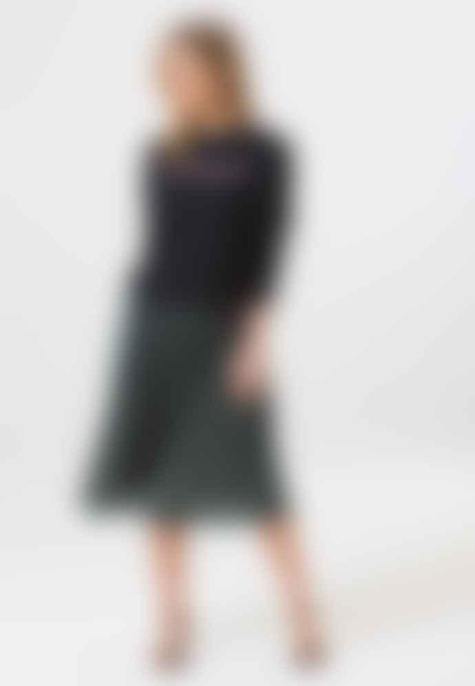 Sugarhill Brighton Quinn Lurex Striped Plisse Pleated Skirt