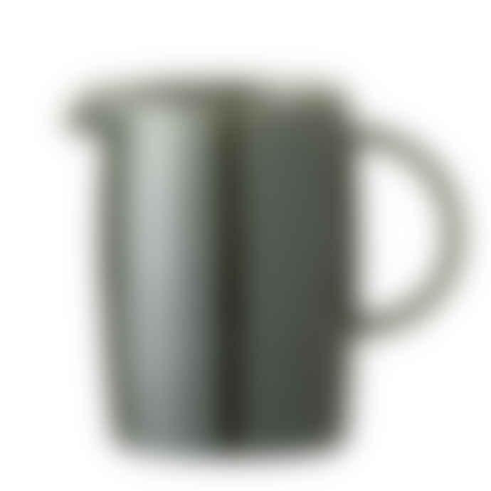 Bloomingville Green Stoneware Milk Jug
