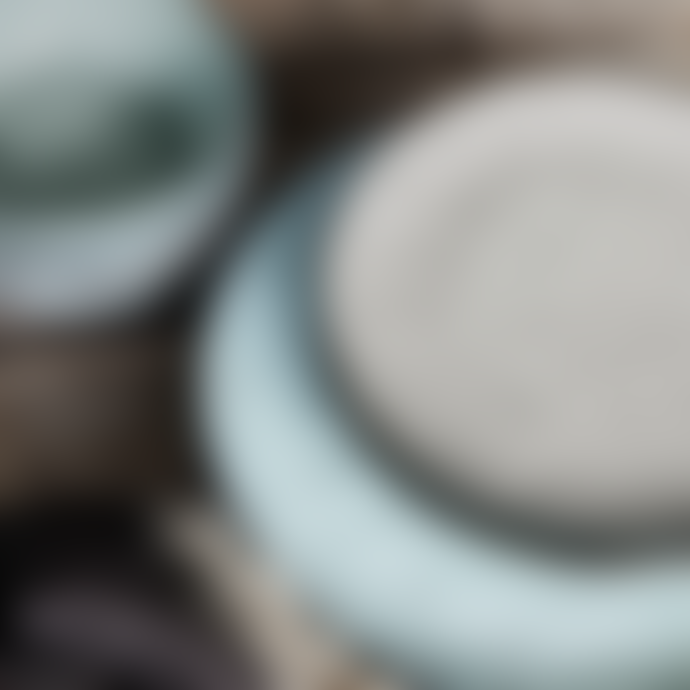 House Doctor Grey Blue Rustic Plate