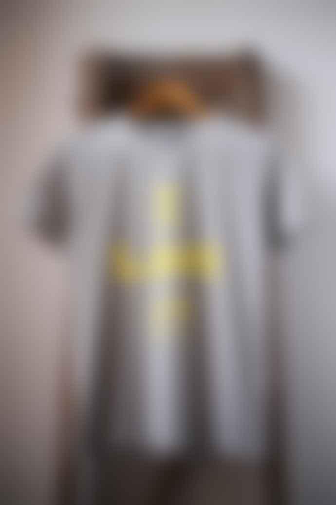 Bella Freud  I Love It Grey Marl Boyfriend Fit T Shirt