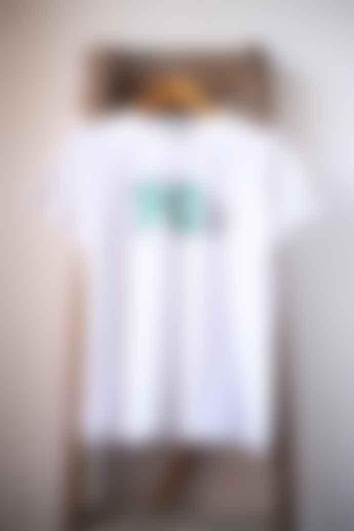 Bella Freud  90 S White Boyfriend Fit T Shirt