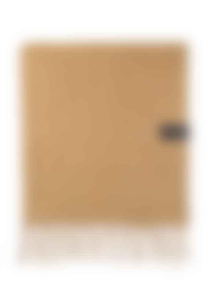 The Tartan Blanket Co. Mustard Herringbone Recycled Wool Blanket