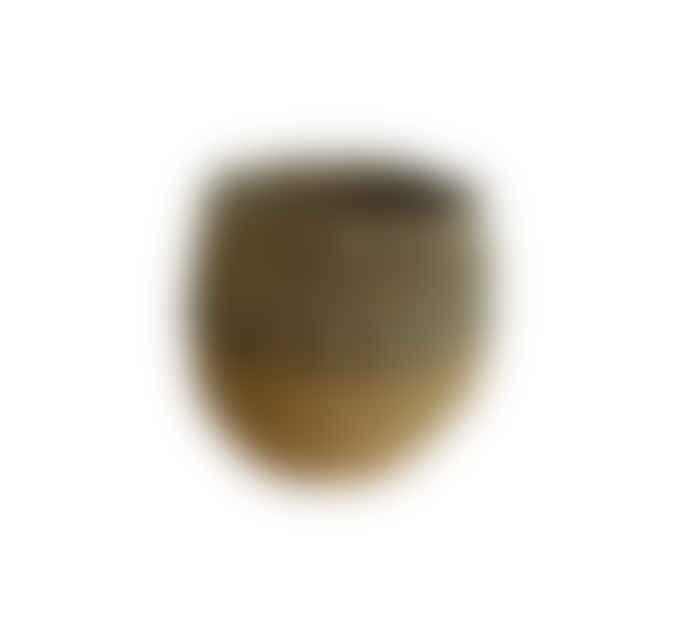 The Goods Mini Black Seagrass Striped Pot