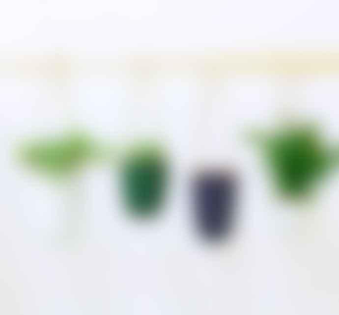 casa atlantica Small White with Green and Orange Terracotta Mottled Flower Pot