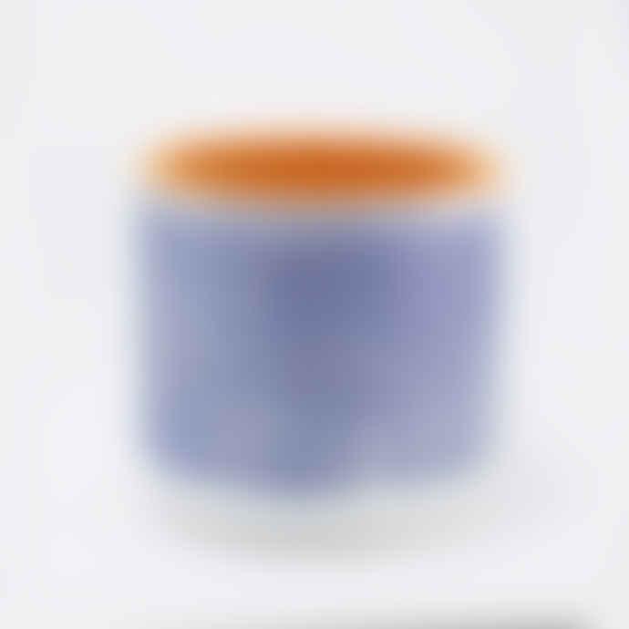 casa atlantica Small Blue Double Stripes Terracotta Pot with Plate