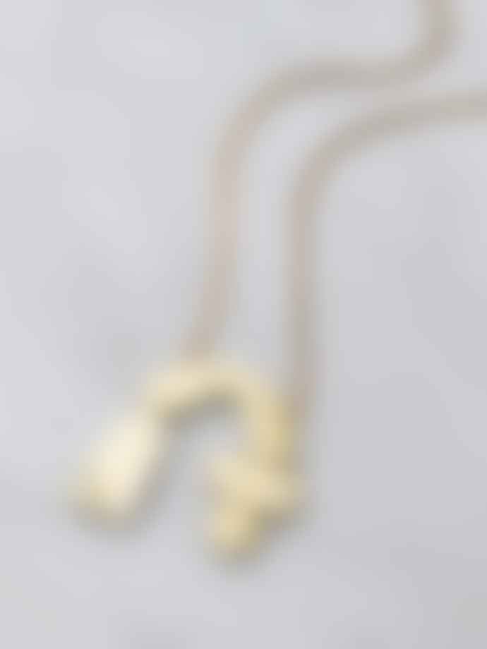 Wolf & Moon Cassia Statement Necklace Mirrored Brass