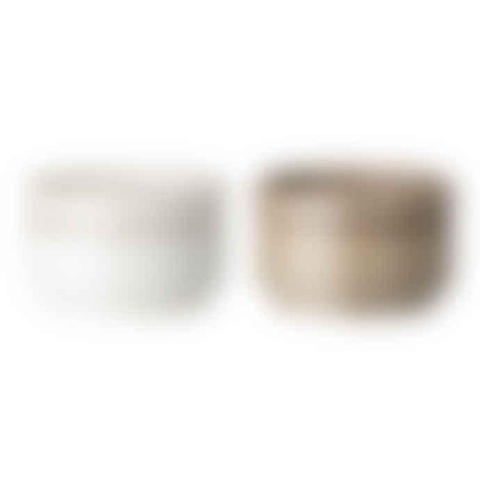 Bloomingville Stoneware Jar With Lid Set of 2