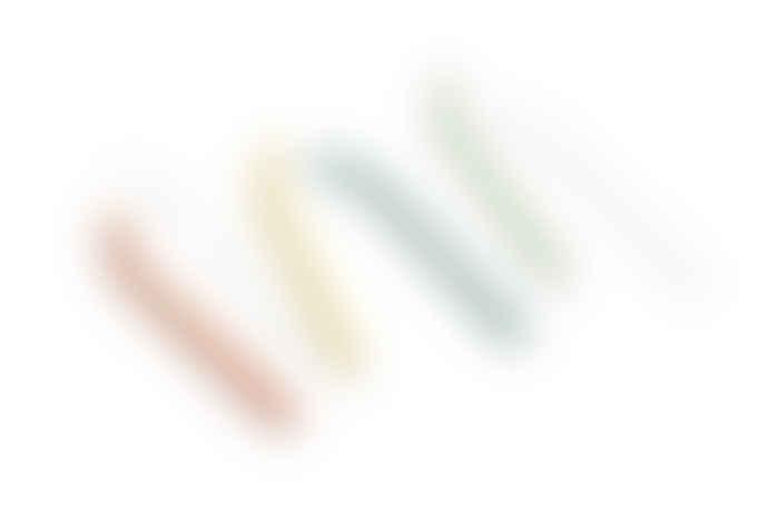 HAY Glass Straws Sip Set of 6