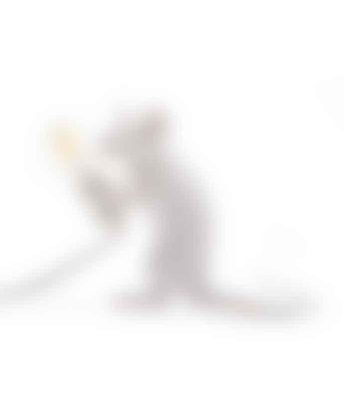 Seletti White Mouse Sitting Lamp
