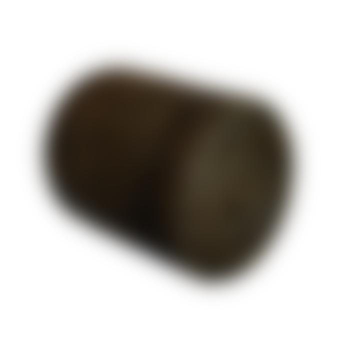 The Goods Black Rattan Waste Paper Basket