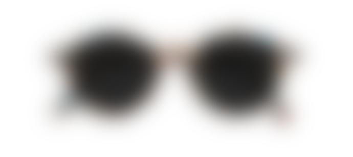 IZIPIZI Blue Tortoise Timeless Round Unisex Sunglass brown, grey, blue, nude/dark grey lenses