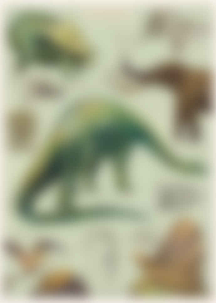 Cavallini & Co Dinosaur Poster